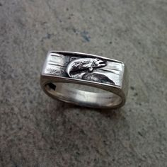 Trout Ring Silver 14k Gold Animal Jewelry Fish Steelhead handmade USA nature best different – All Animal Jewelry & Jan David Design Jewelers