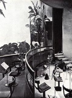 Orquesta del Dancing, Salon de Té Casablanca. Madrid 1934. De Luis Gutierrez Soto. Arquitecturas perdidas.