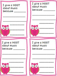 Hoots About Music Bulletin board kit