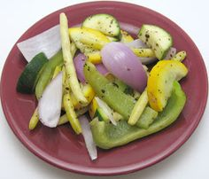 Crock pot roasted summer vegetables recipe, adapted from Not Your Mother's Slow Cooker Cookbook