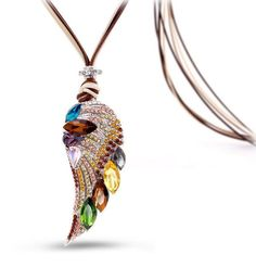 Angel Wing Long Necklace