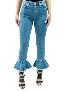 New Trending Denim: Mid Waist Slim Mom Jeans With Flared Frill Hem | Raw Hem Jeans - W 27. Mid Waist Slim Mom Jeans With Flared Frill Hem | Raw Hem Jeans – W 27   Special Offer: $39.99      277 Reviews Form fitted cropped silhouette in this gorgeous and versatile stretch denim in a beautifully distressed skinny raw hem with rufflesComfort stretch denimMid-rise waistRuffle...