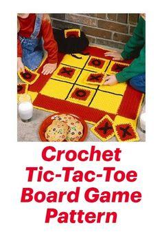 Crochet Tic-Tac-Toe Board Game Crochet Pattern #crochet aff link