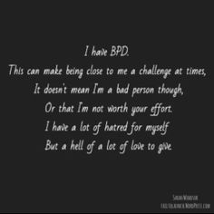 borderline personality disorder quotes - Google Search Mental Disorders, Anxiety Disorder, Bpd Disorder, Bipolar Disorder Quotes, Bpd Quotes, Life Quotes, Borderline Personality Disorder Quotes, Mental Illness Awareness, Social Anxiety