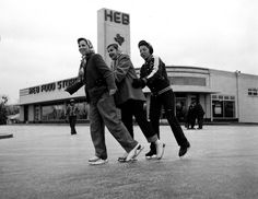Ice skating in the parking lot of HEB on Nogalitos Black White Photos, Black And White, Only In Texas, Ice Skating, San Antonio, Skate, Parking Lot, Grocery Store, 1950s