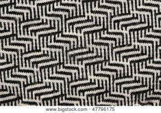 Hand Knit Wool Zigzag Pattern Black White Backdrop Poster