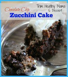 AcuRite Digital Timer ~ Chocolate Chip Zucchini Cake Recipe + Giveaway (US & Canada) 8/23, Trim Healthy Mama, THM, Baking, Cake, Dessert, S
