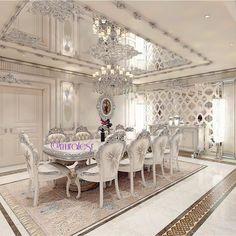 Customer Project/#perfect #project #perfection #uae #ksa #kuwait #dubai #design #designer #almaty #azerbaijan #doha#qatar #baku #jeddah… Dining Room Design, Elegant Dining Room, Dining Room Furniture, Luxury Dining Room, Room Chairs, Home Furniture, Dining Set, Dining Chairs, Kitchen Dining