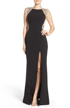 New Mac Duggal Embellished Body-Con Gown, Royal fashion dress online. [$378]>>newtopfashion Shop fashion 2017 <<