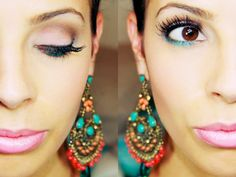 Try this step-by-step beauty tutorial for a colorful and stunning date night look. Kiss Makeup, Love Makeup, Beauty Makeup, Makeup Looks, Hair Makeup, Hair Beauty, Beauty Tutorials, Beauty Hacks, Beauty Tips