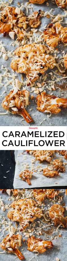 Cauliflower doesn't have to look sad on a veggie tray! Try our delicious Caramelized Cauliflower for your next get-together! #cleaneating #healthy