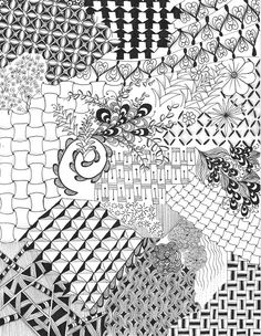 5 hour zentangle by Tiffany Tangles- stunning!!