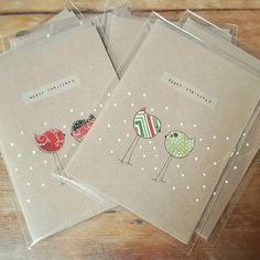 Check out this item in my Etsy shop https://www.etsy.com/uk/listing/536078722/handmade-christmas-card-kraft-snow-birds