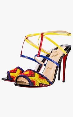 4413de971544 Christian Louboutin Tipika sandals,  1,495. Ledersandalen, Sandalen Mit  Riemchen, Patentleder, Absatzschuhe