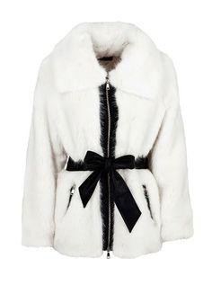 083dcb2ed6 Buy Guess Women s White Faux Fur Gilet