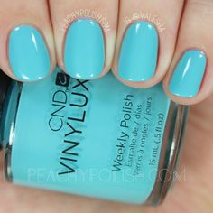 CND Vinylux Aqua-intance | Summer 2016 Flirtation Collection | Peachy Polish