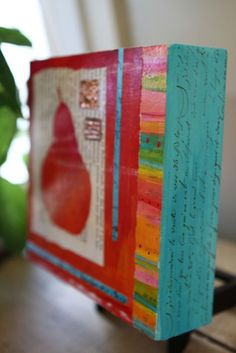 These are great. gelli prints would be fun in this format…. from‹ Laura TWO Tina