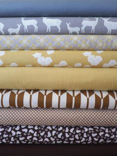 Fabricworm Custom Bundle, Quiet Meadow in FAT QUARTERS 9 Total
