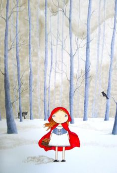 Little Red Riding Hood Illustration by abbyjac on Etsy