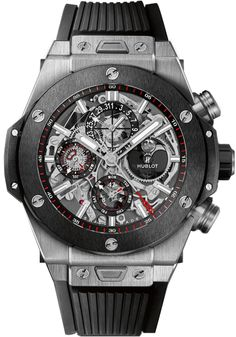 406.NM.0170.RX  HUBLOT BIG BANG PERPETUAL CALENDAR TITANIUM CERAMIC WATCH