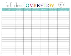 Debt Payment Plan Printable by aRodgersDesigns on Etsy | Blue ...