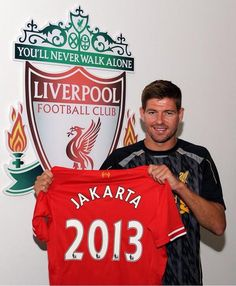 See you in Jakarta, Stevie! Liverpool Football Club, Liverpool Fc, Stevie G, Captain Fantastic, Steven Gerrard, Walking Alone, Jakarta, My Hero, Sports