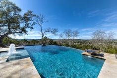 Beautiful Infinity Edge pool.