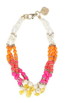 Chase the Sun statement necklace...cute color combo for summer.