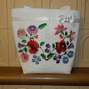 I embroidered it with original folk motif and I used original Kalocsa colors. I combined the white cutwork with the vivid colors. x cm x 8 in) All items are made by me at my home. Handmade Bags, Handmade Items, Cutwork, My Works, Vivid Colors, Etsy Seller, Create, Rose, Farmhouse Rugs