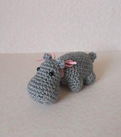 Crochet Hippo the Hippopotamus Amigurumi Animal Plush