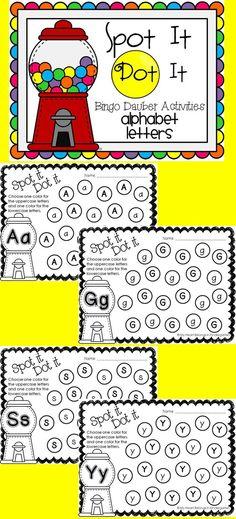 DIY Engaging, fun, hands-on alphabet activities! Just print and add bingo daubers. It's that easy!: