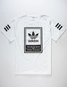ADIDAS Classic Mens T-Shirt White Camisas Hombre f38e457caf8