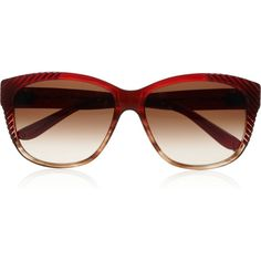 Chloé D-frame textured ombré acetate sunglasses ❤ liked on Polyvore