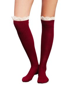 Get Your Frills Ruffle OTK Sock | Wet Seal #overthekneesocks #ruffles