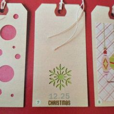 Gift tags using paper punch