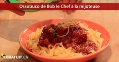 Ossobuco de porc deBob le Chef séduira vos invitées sans vous ruiner en temps ou en argent. Le Chef, Bob, Spaghetti, Meat, Ethnic Recipes, Egg Noodles, Ham Hock, Quick Recipes, Slow Cooker