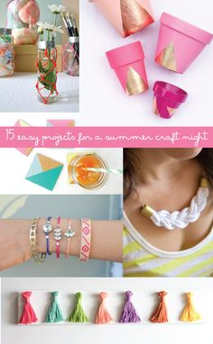 15 easy DIYs that are perfect for a summer craft night