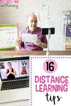 Distance learning has definitely been challenging for both elementary students and teachers. In this post, I'm sharing 16 ways you can support your students, and yourself, while navigating virtual learning. Some of these tips include student engagement ideas, incorporating brain breaks, self care for teachers, and MORE! Kindergarten Learning, Teaching First Grade, Learning Activities, Elementary School Library, Elementary Schools, Engagement Ideas, Student Engagement, Creative Teaching, Teaching Ideas