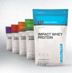 Functional, modern packaging for MYPROTEIN