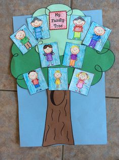 54 Super Ideas For Family Tree Kindergarten About Me Preschool Family Theme, Family Crafts, Preschool Crafts, Graphing Activities, Kindergarten Activities, Activities For Kids, Art Drawings For Kids, Art For Kids, Family Tree Art