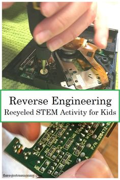 Your Kids Should Be Taking Apart Electronics! - Reverse Engineering: simple recycled STEM activity to teach kids about electronics - Electronics Projects, Kids Electronics, Engineering Projects, Stem Projects, Projects For Kids, Steam Activities, Activities For Kids, Camping Activities, Camping Tips