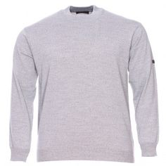 Pull col rond  en laine grande taille Monte Carlo Gris: perfect basique d'une garde robe masculine