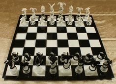 Dragón épico ajedrez tablero de cristal por DragonJewelryArt