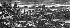 #Almarestäket Det som idag heter #Stocksund. Ruinen i mitten var tidigt 1500tal ett slott där den danskstödda ärkebiskopen huserade. Uppsala, My Ancestors, Ruin, Empire, History, Painting, Google Search, Sweden, Historia