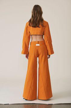 Denim Runway Pants, Turmeric Orange, hi-res