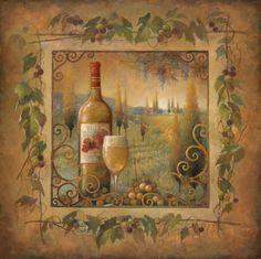 Villa Tuscan Print by Elaine Vollherbst-Lane - AllPosters.co.uk
