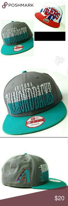 Snapback Bundle NBA/MLB Forty Seven, Philadelphia 76ers, snapback, good used condition, normal signs of wear as pictured, one size.  Arizona Diamondbacks, New Era, Snapback, in gently used condition, normal signs of wear, no holes/stains, one size fits all.  Will sell seperate Accessories Hats