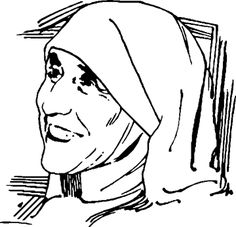 Blessed Mother Teresa Coloring Pages Free Sketch Template See More Mere Sainte Therese De Calcutta