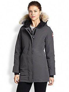 Canada+Goose Fur-Trimmed+Down-Filled+Victoria+Parka  WomenFashion 906f7ed51fcf