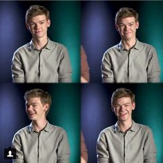 Thomas Brodie-Sangster. He's so adorable when he's trying not to laugh